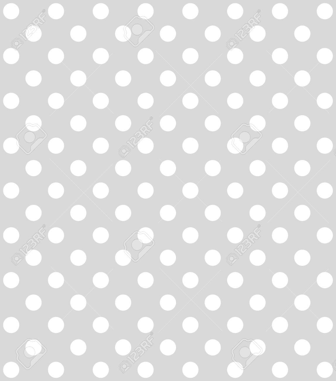 Standard Bild Traditionelle Gepunktete Tapete Mit Weisen Punkten Und Grauem Hintergrund