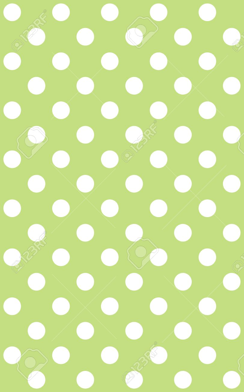 Traditional dotted wallpaper with white dots and light green stock stock photo traditional dotted wallpaper with white dots and light green background aloadofball Image collections