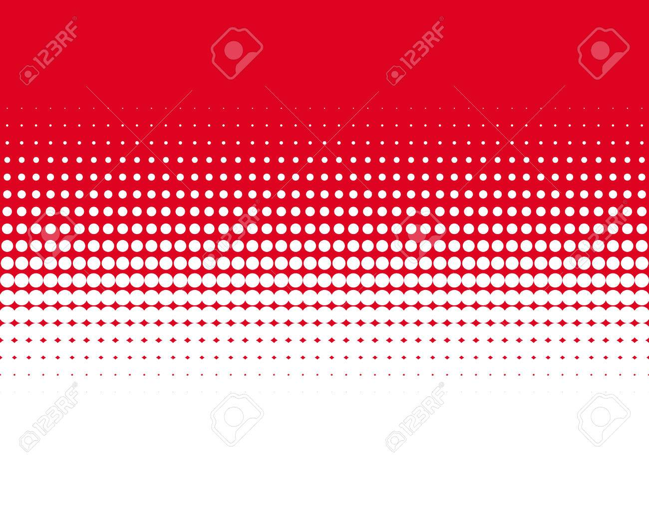 transition of red dots on white background stock photo, picture