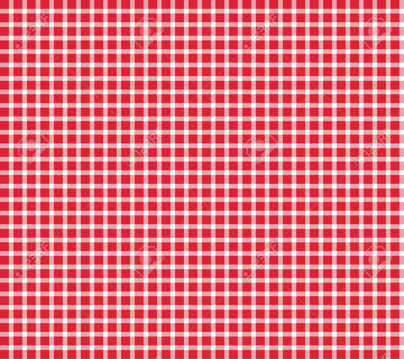 Checkered Background Tablecloth Red White Stock Photo Picture And