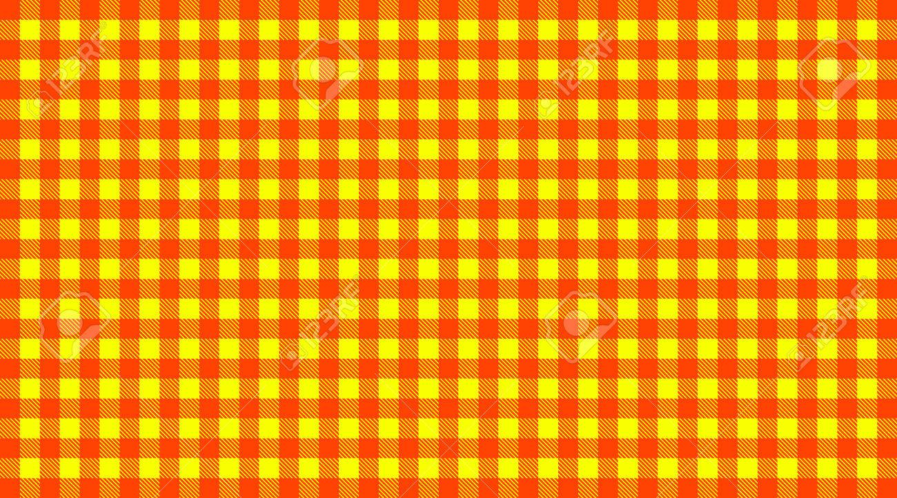 Stock Photo   Traditional Checkered Tablecloth Pattern Red And Yellow