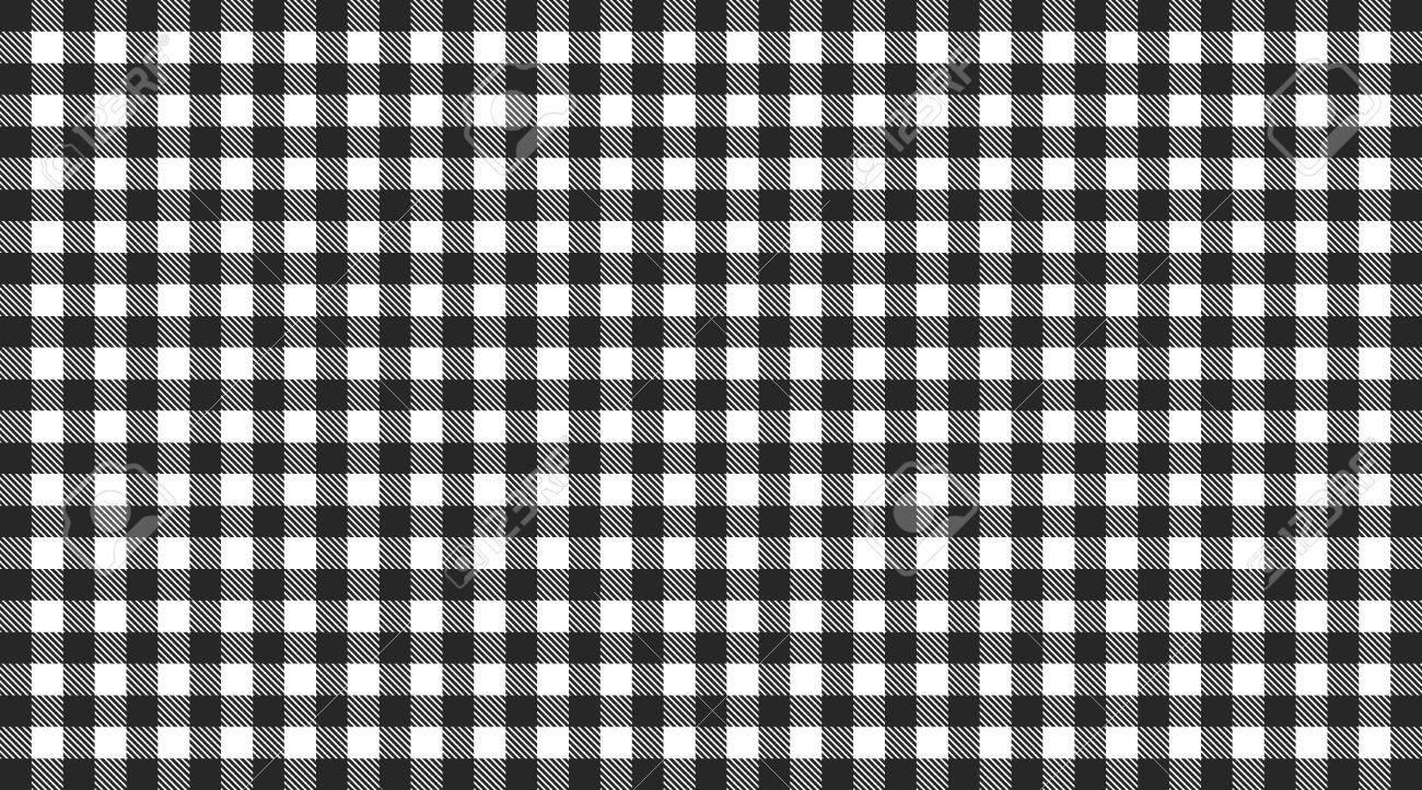 Stock Photo   Traditional Checkered Tablecloth Pattern Black And White