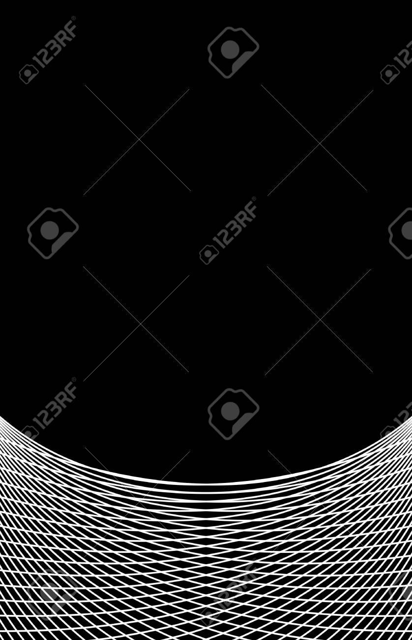 Immagini Stock Sfondo Bianco Nero Linee Curve Sottili Image 64684030