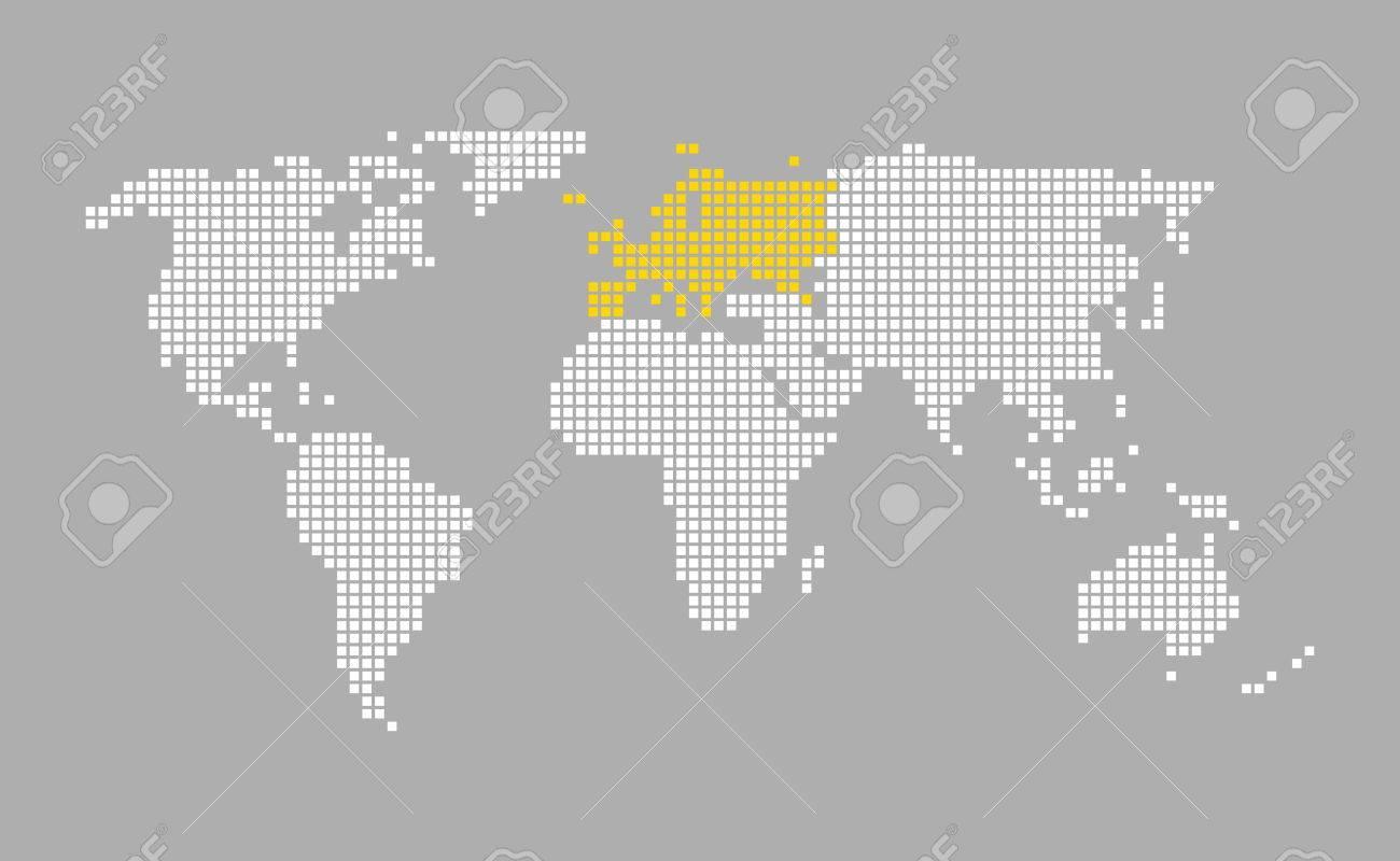 Europe modern grey world map with white orange pixels stock photo europe modern grey world map with white orange pixels stock photo 65024378 gumiabroncs Choice Image