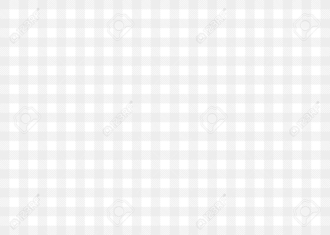 mantel a cuadros de la luz de fondo gris blanco foto de archivo