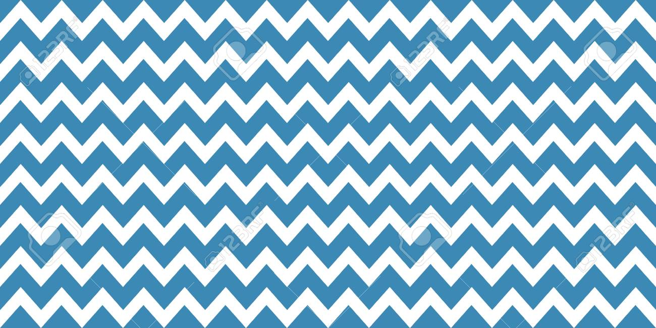 Zig Zag Pattern Background Blue And White Stock Photo Picture