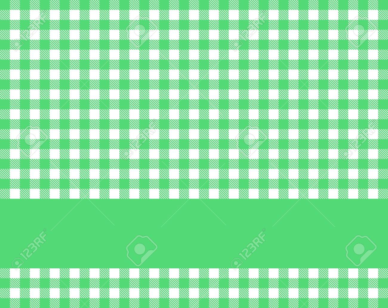 Stock Photo   Traditional Rustic Green White Tablecloth Texture With Stripe  For Text