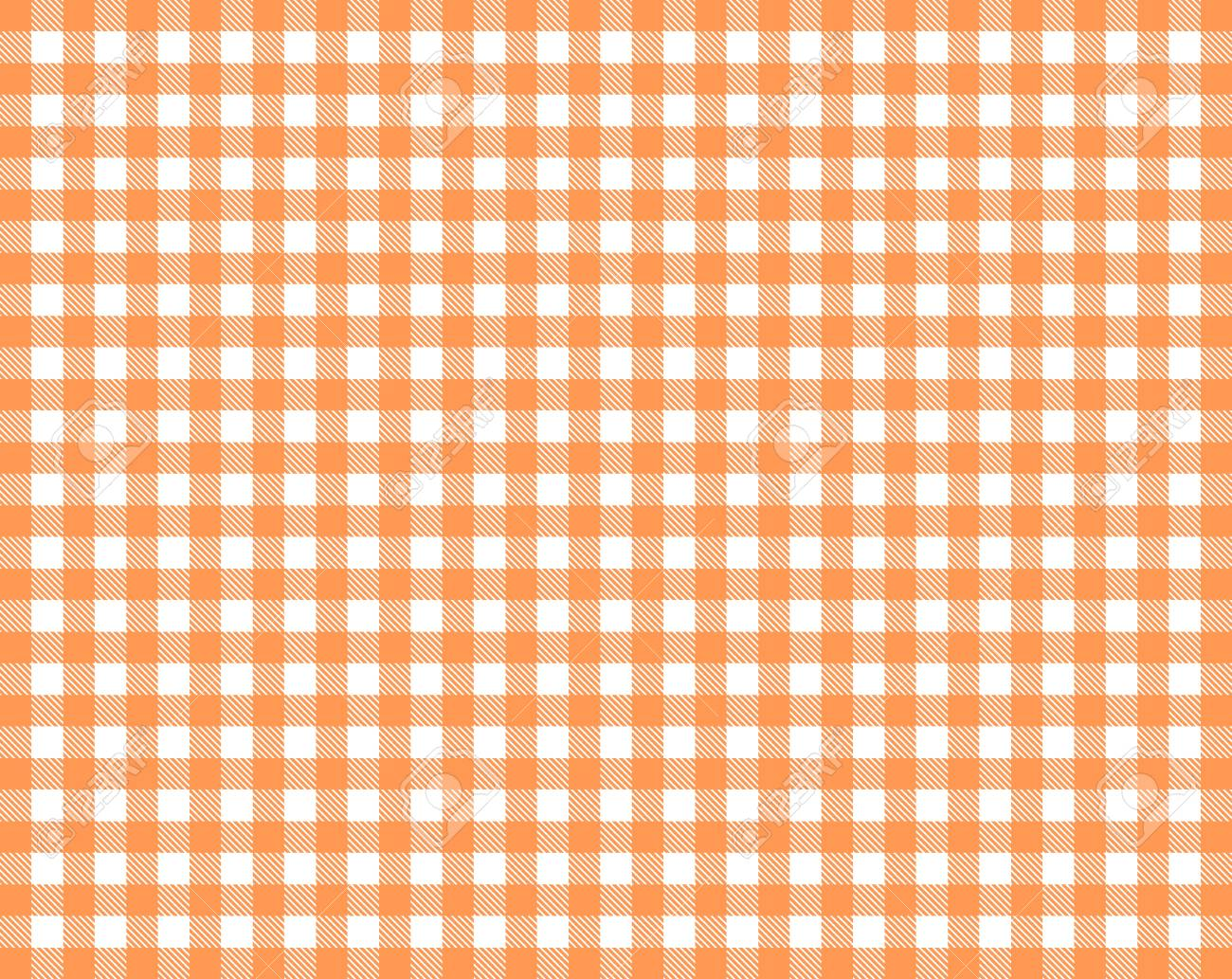 Tablecloth background texture checkered red orange and white - 121479156
