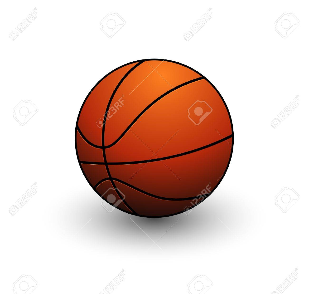 abstract basketball ball symbol orange color isolated royalty free