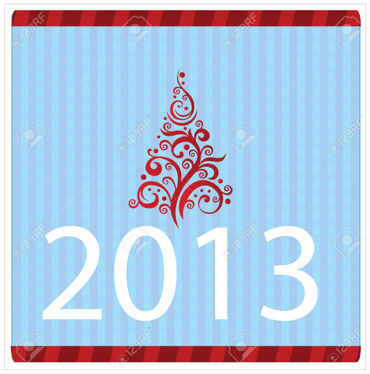 Christmas and New Year greeting card Stock Vector - 16658570