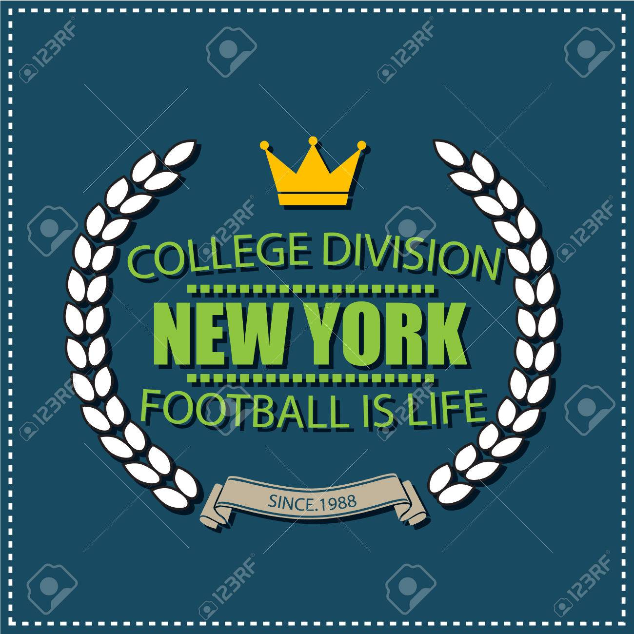 New York University College De División De Fútbol Etiqueta De ...