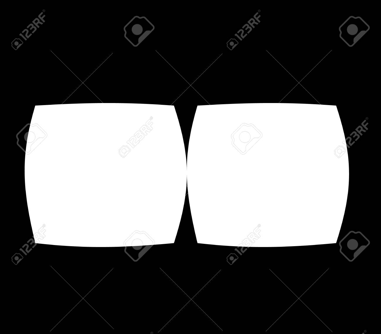 fd1ef11aa6 Virtual Reality Glasses Screen Vector Frame Template Royalty Free ...