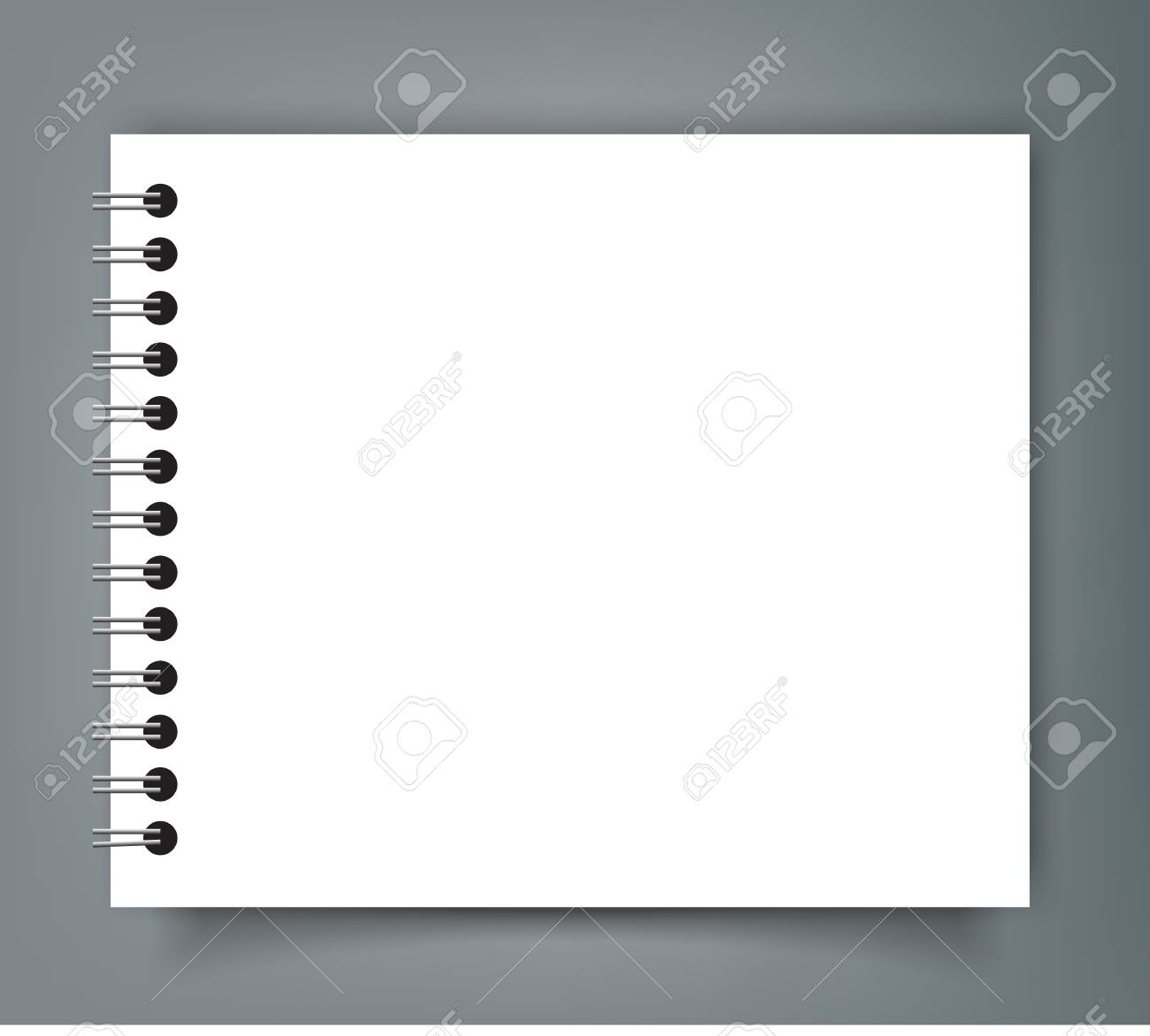 Blank Square notebook calendar mockup cover template. - 90405723