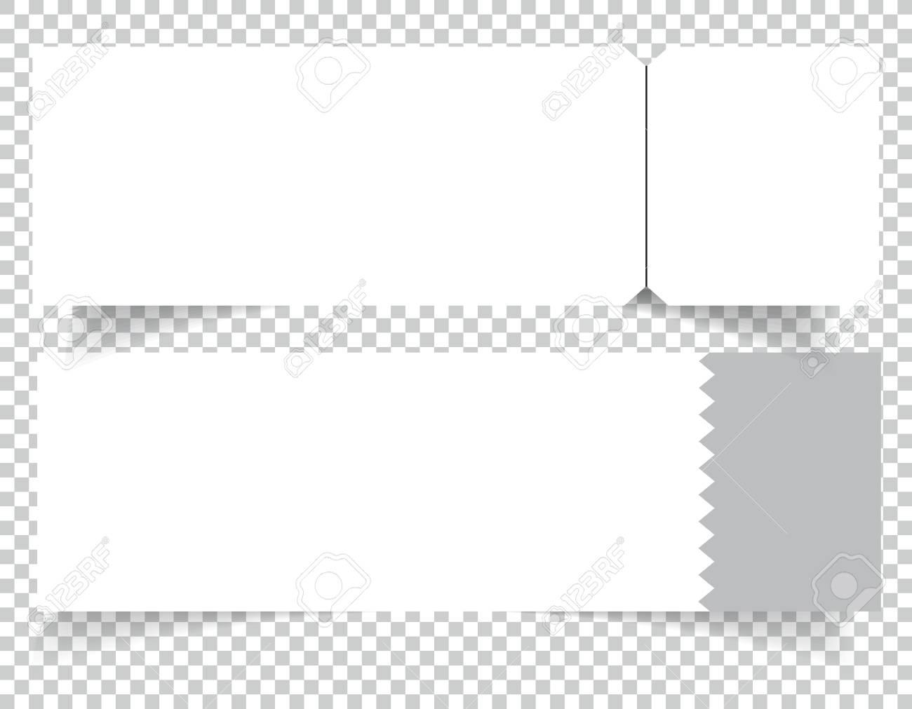 set of blank event concert ticket mock up template concert