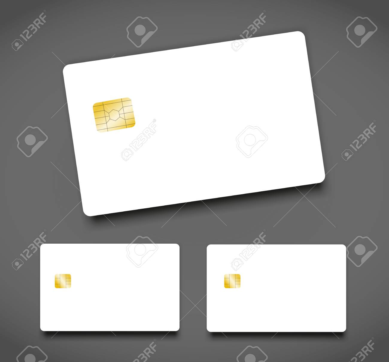 Banking Chip Credit Card Realistic Mockup Clear Plastic Card