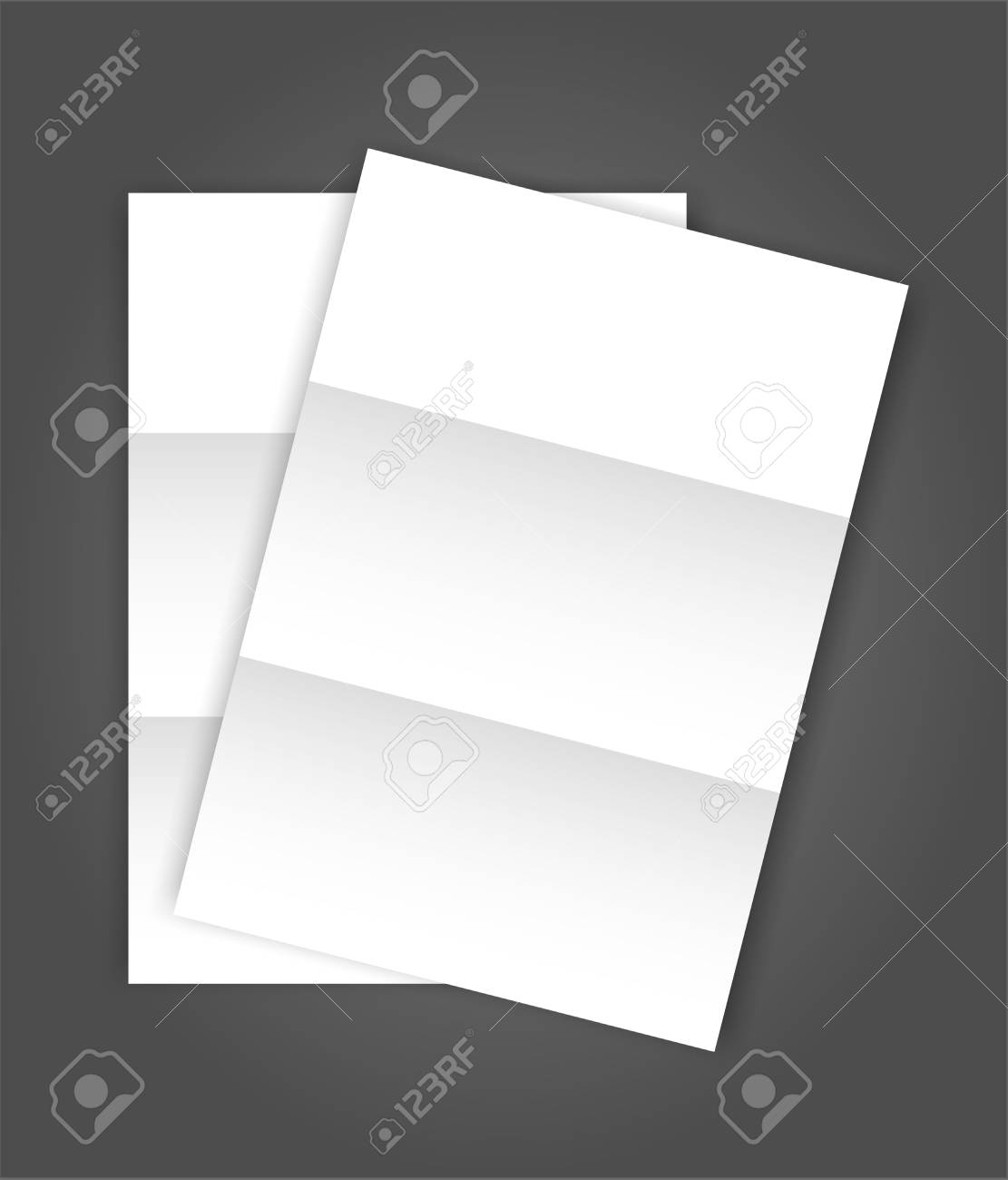 Set of two blank folded Paper Page blank A4 mockup