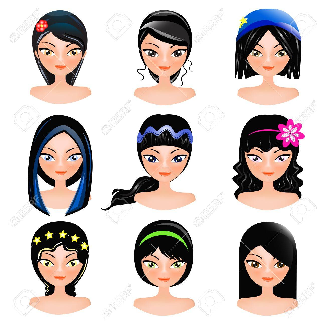 face of women cartoon royalty free cliparts vectors and stock rh 123rf com cartoon woman into alligator mouth cartoon woman packing