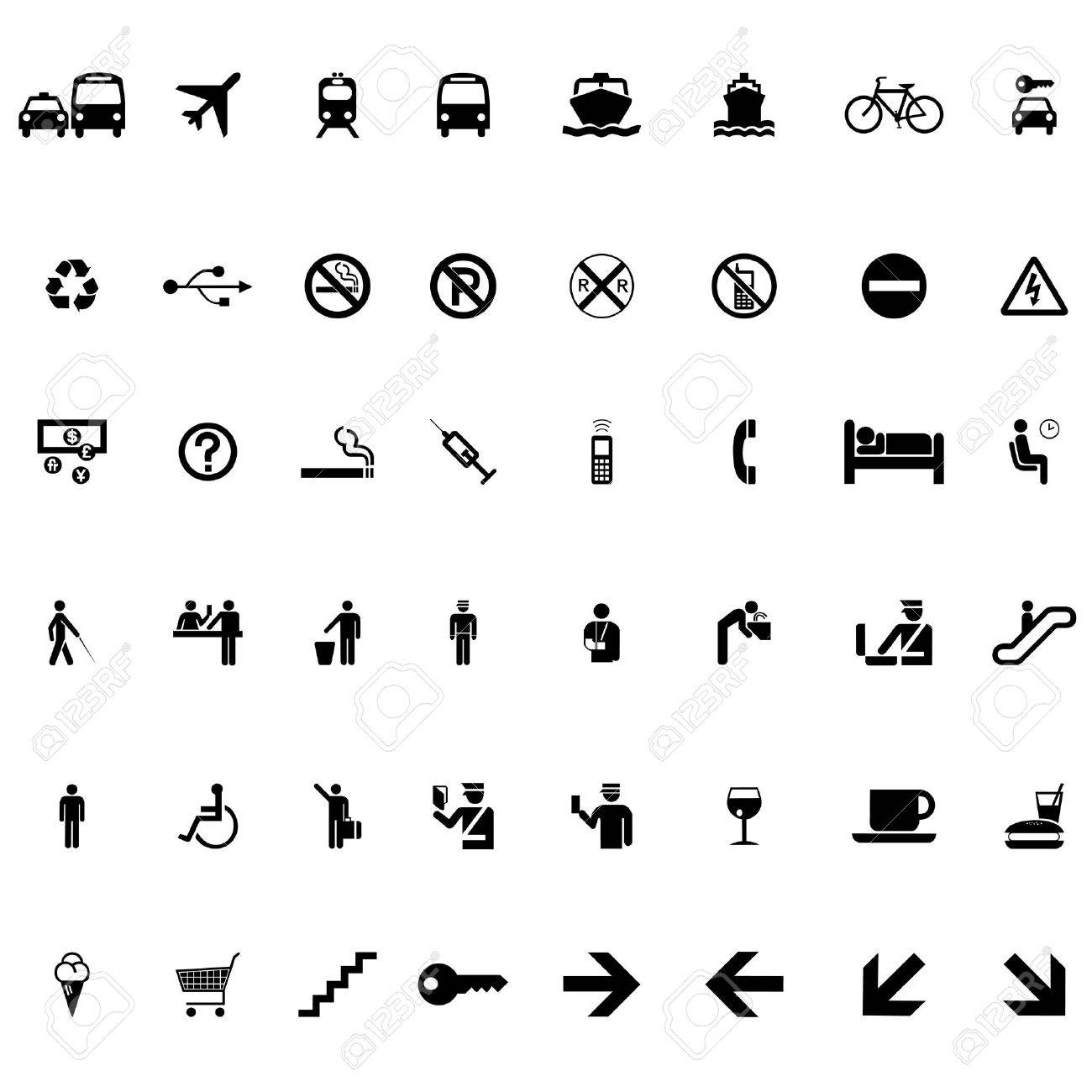Set of signs and symbols vector Stock Vector - 22207613