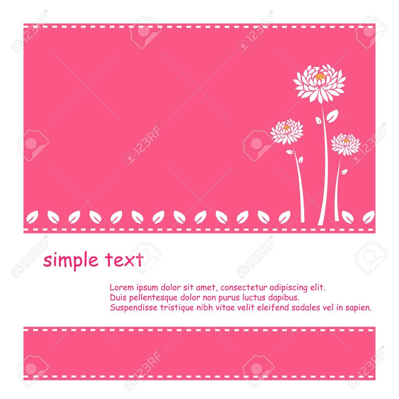かわいいお花のベクトルとピンクの背景のイラスト素材ベクタ Image