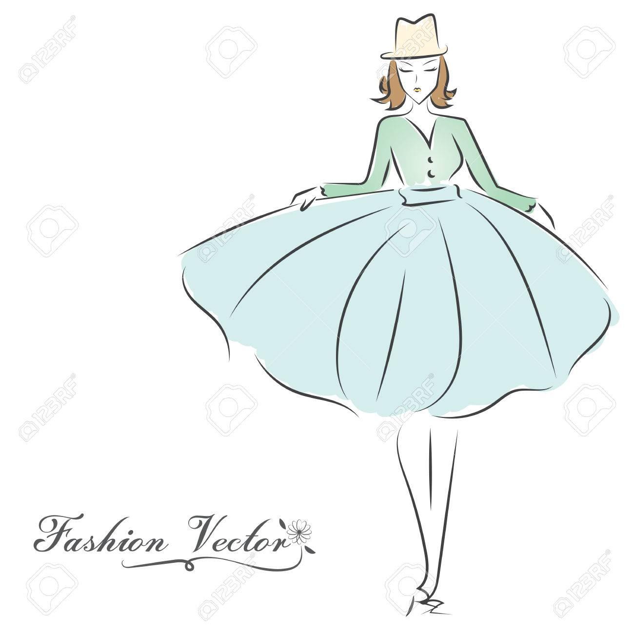 Fashion dresses drawings