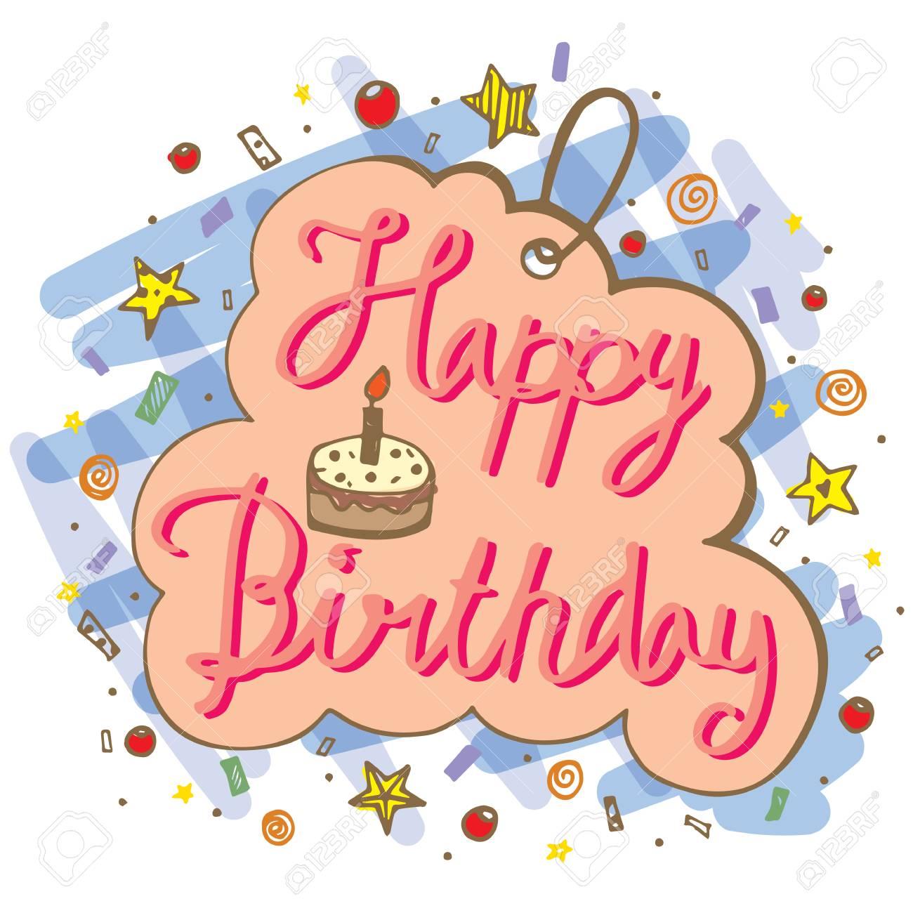 Hand drawn doodle vector of happy birthday word for greeting hand drawn doodle vector of happy birthday word for greeting card designs stock vector 89058049 kristyandbryce Gallery