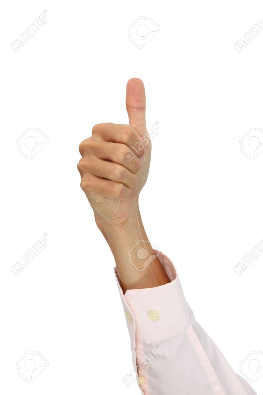 Hand of office man showing thumb. Stock Photo - 11594987