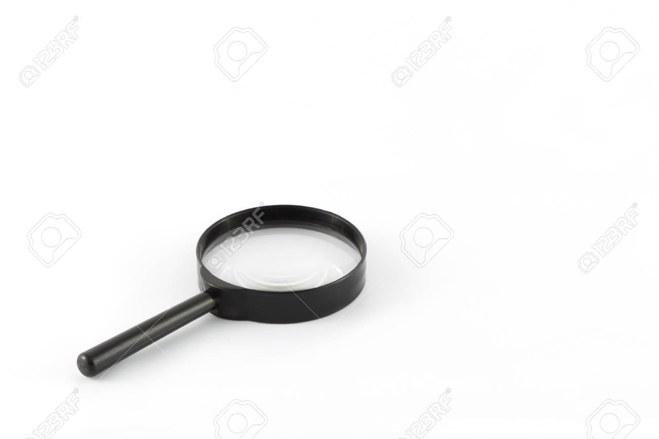 Schwarzer Rahmen Lupe Auf Weißem Hintergrund. Lizenzfreie Fotos ...