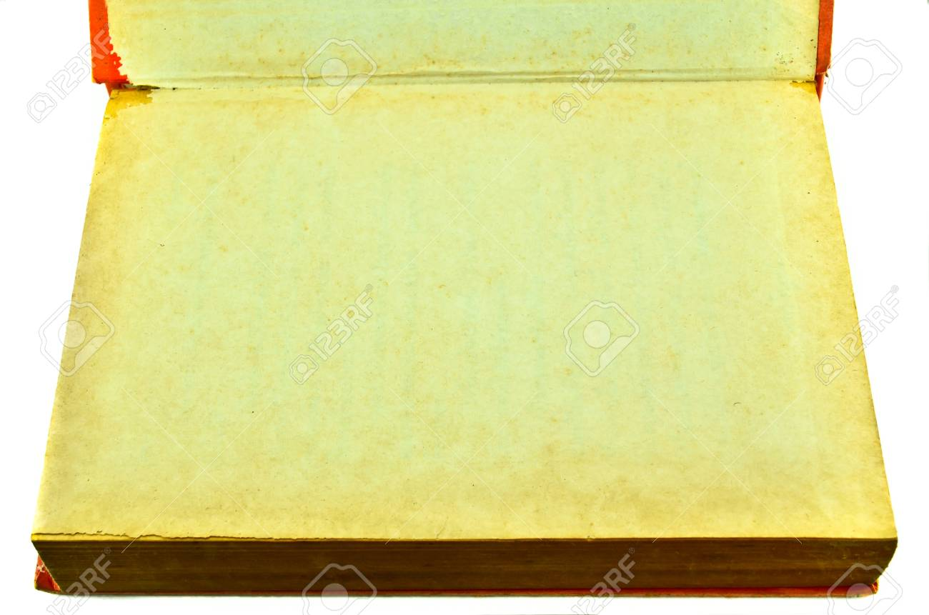 Old book isolated on white background Stock Photo - 17364992