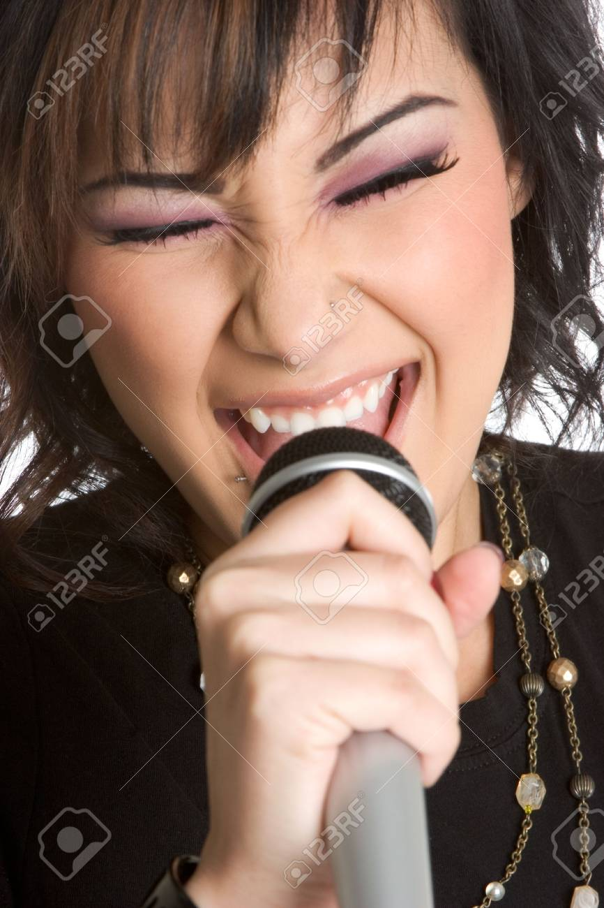 Beautiful Singer Stock Photo - 1827344