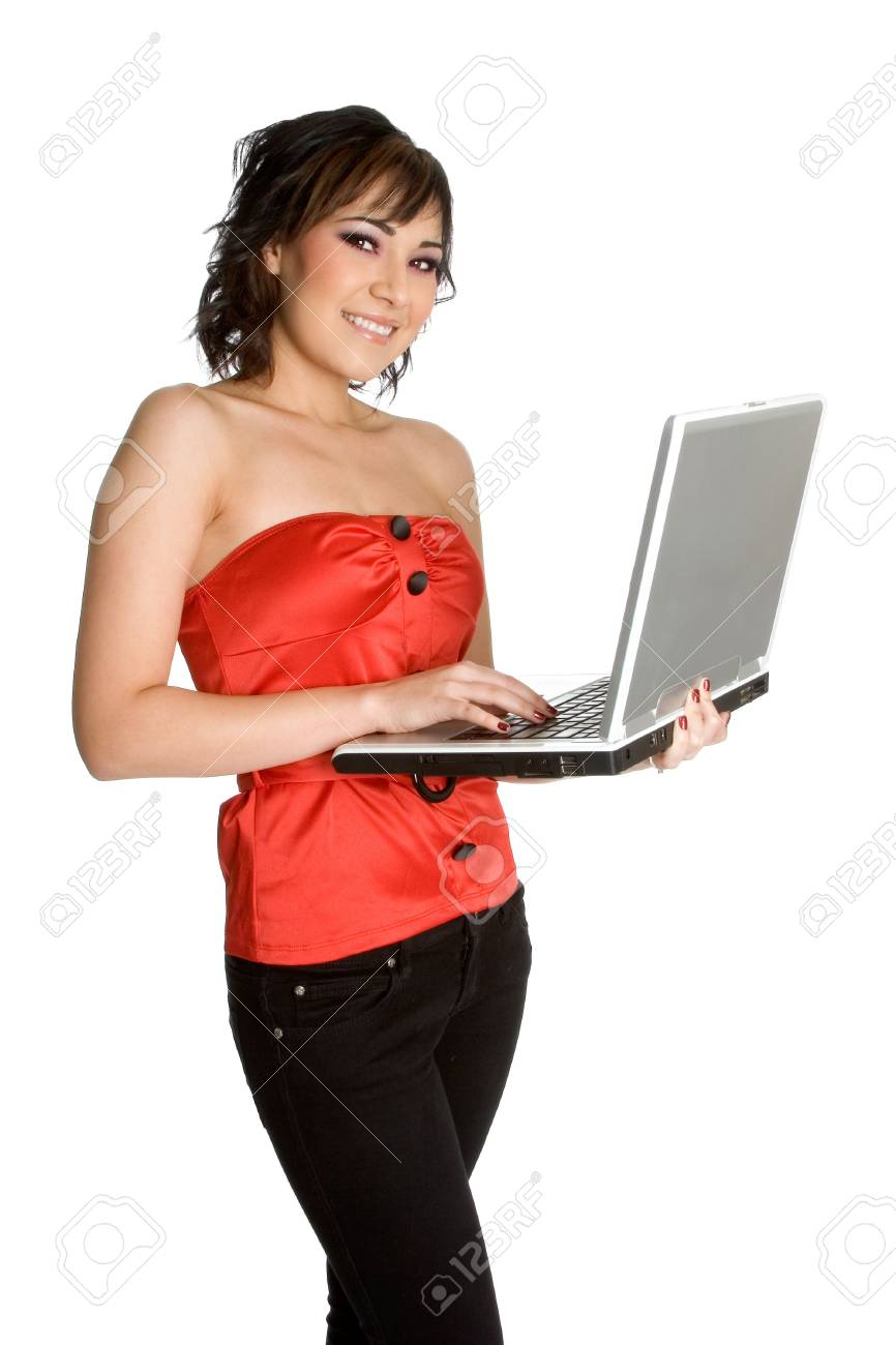 Laptop Businesswoman Stock Photo - 1885728