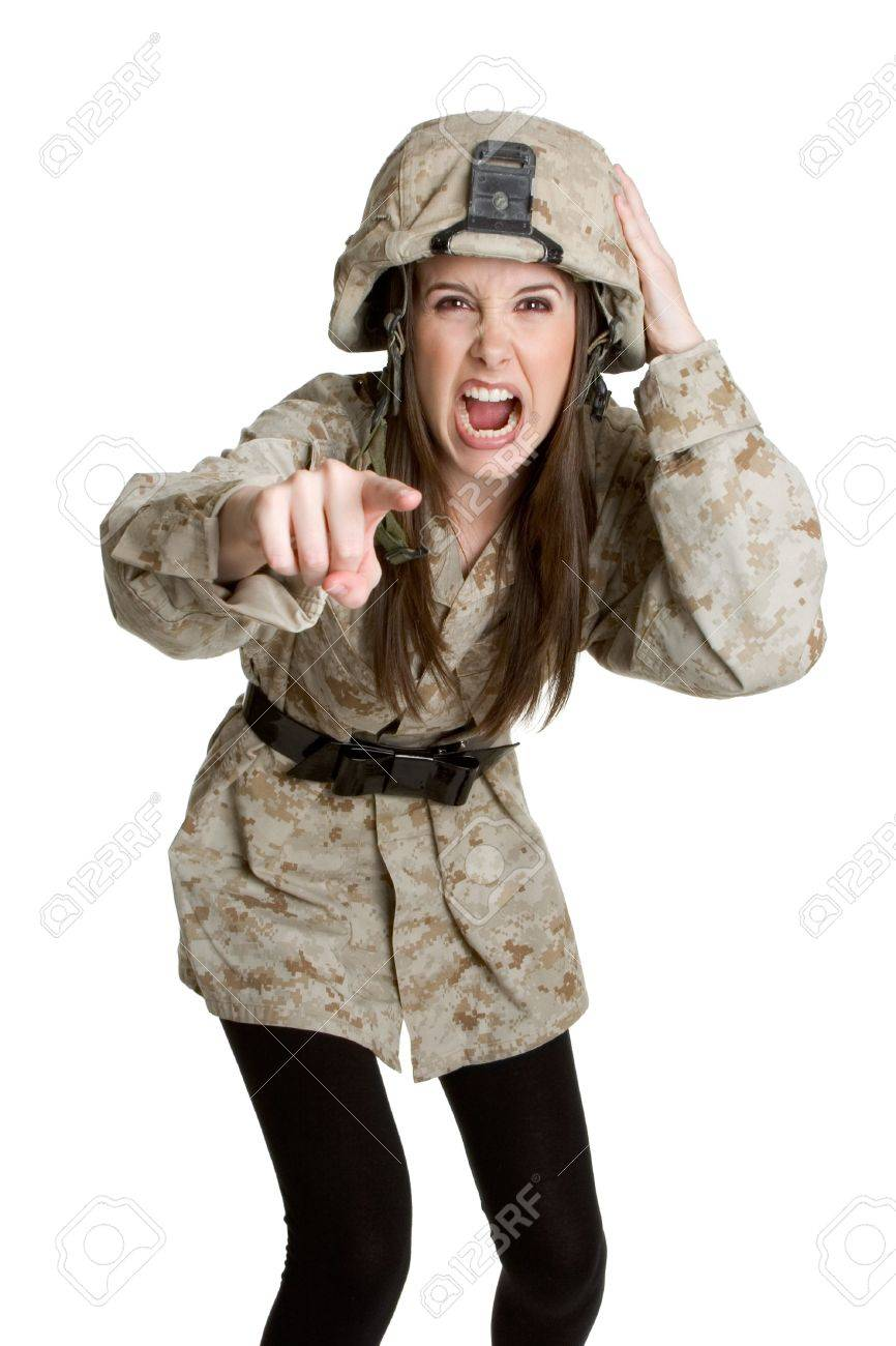 Military Girl Stock Photo - 3052256