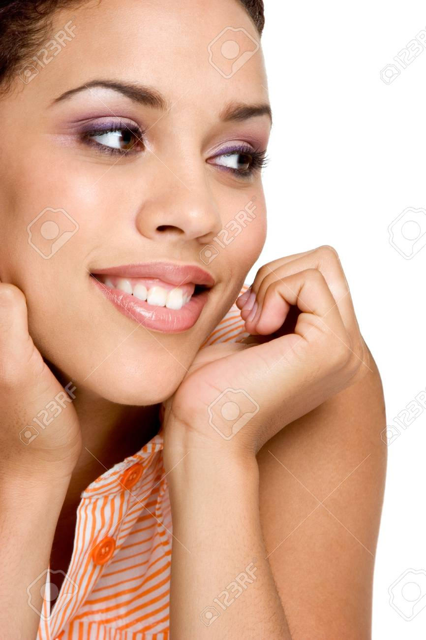 Smiling African American Woman Stock Photo - 3107362