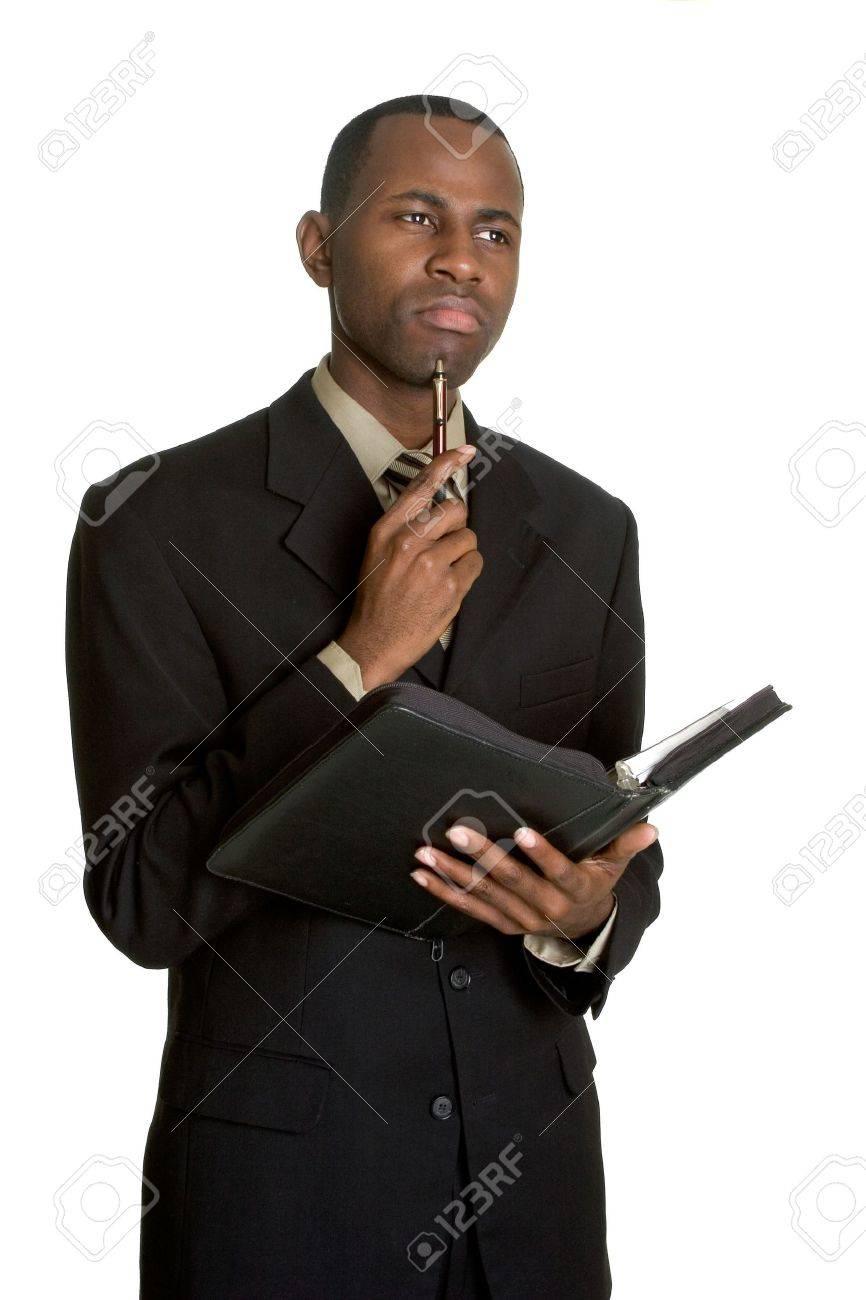 Thinking Businessman Stock Photo - 3196502