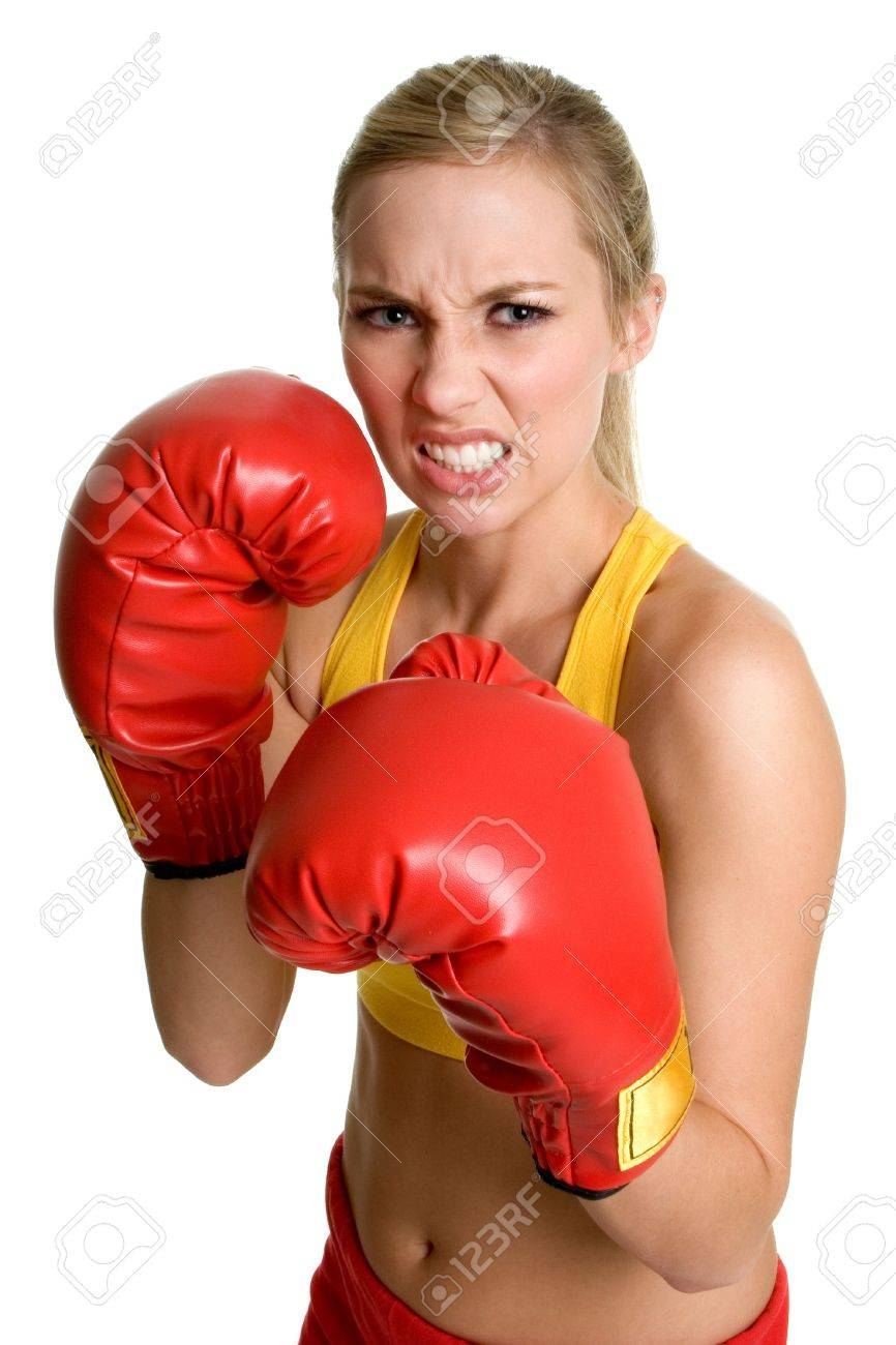 Boxing Girl Stock Photo - 3236748