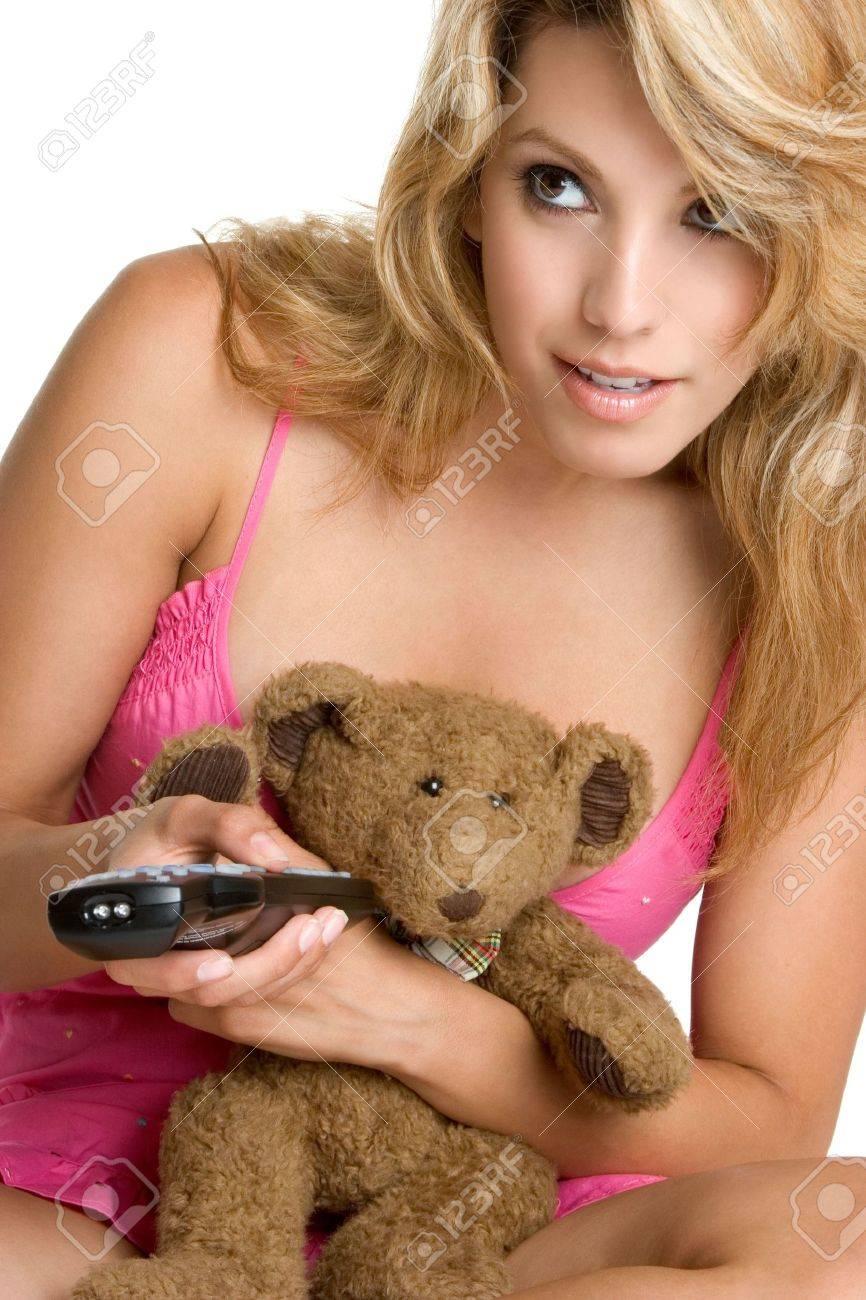 Girl With Teddy Bear Stock Photo - 3307699