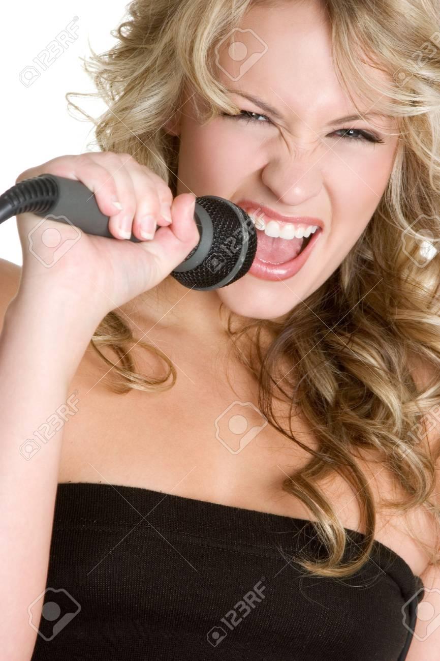 Woman Singing Stock Photo - 3430753