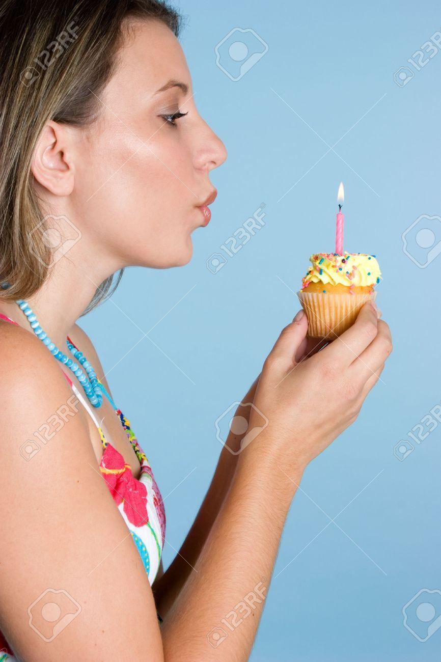 Making a Birthday Wish Stock Photo - 3804331