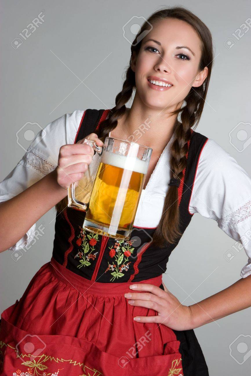 Woman With Beer Stock Photo - 3818209