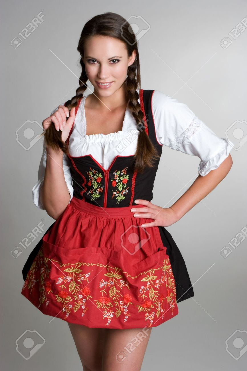 Smiling German Girl Stock Photo - 3818210