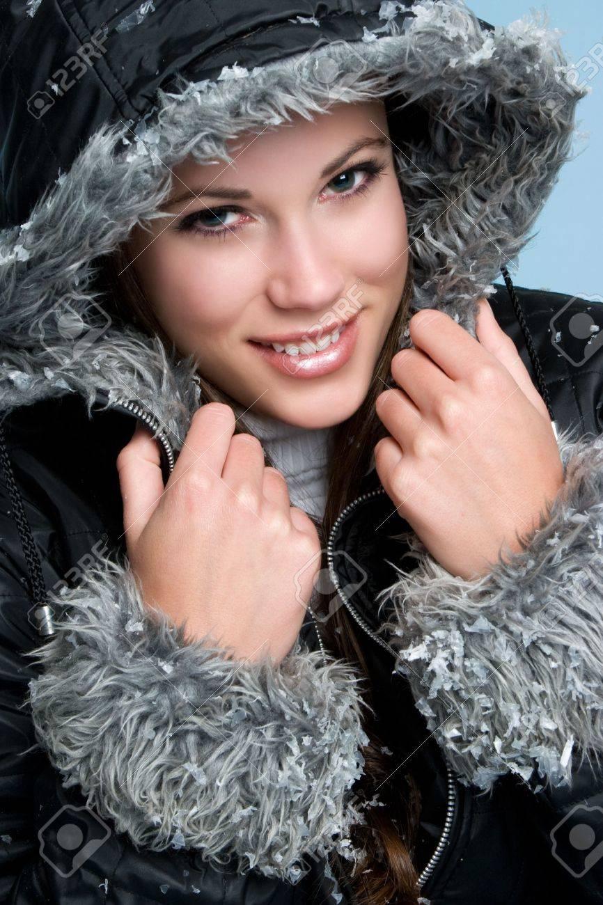 Smiling Winter Woman Stock Photo - 3830741