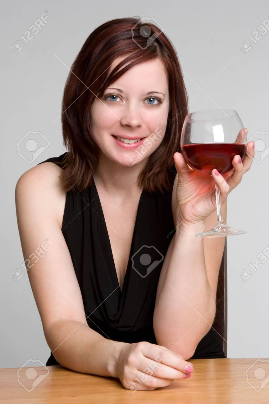 Woman Drinking Wine Stock Photo - 3830742