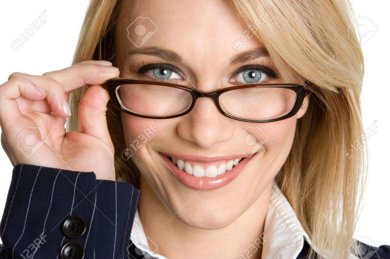 Woman Wearing Glasses Stock Photo - 3930150