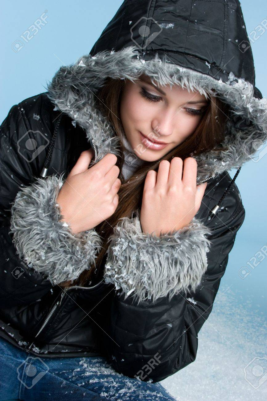 Winter Snow Girl Stock Photo - 3999340