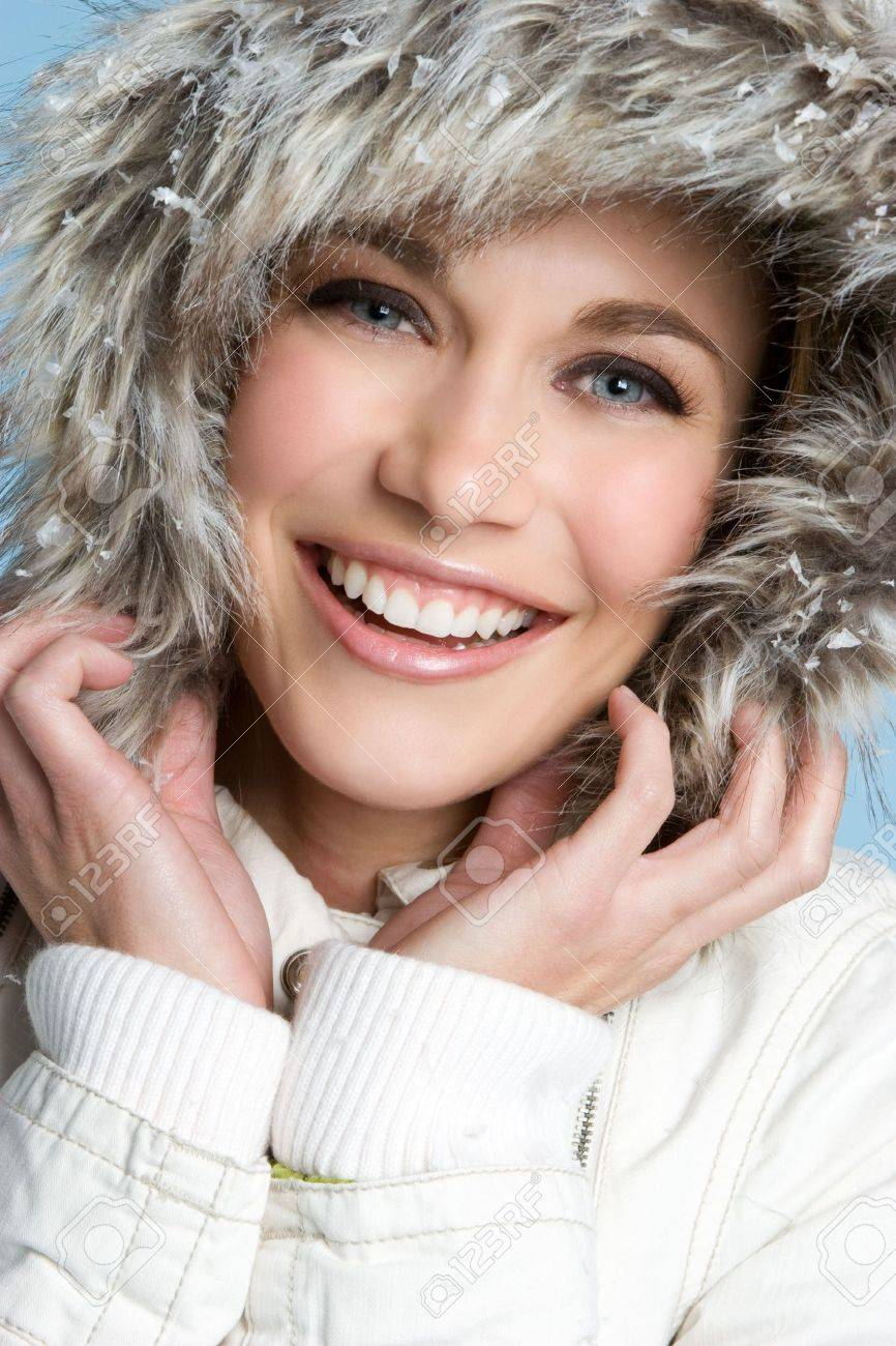 Laughing Winter Girl Stock Photo - 4082198