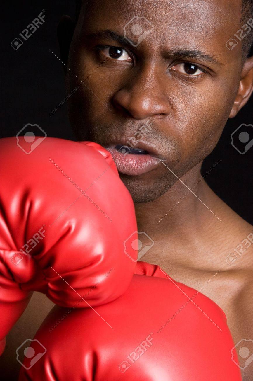 Angry Teenage Boxer Stock Photo - 4282559