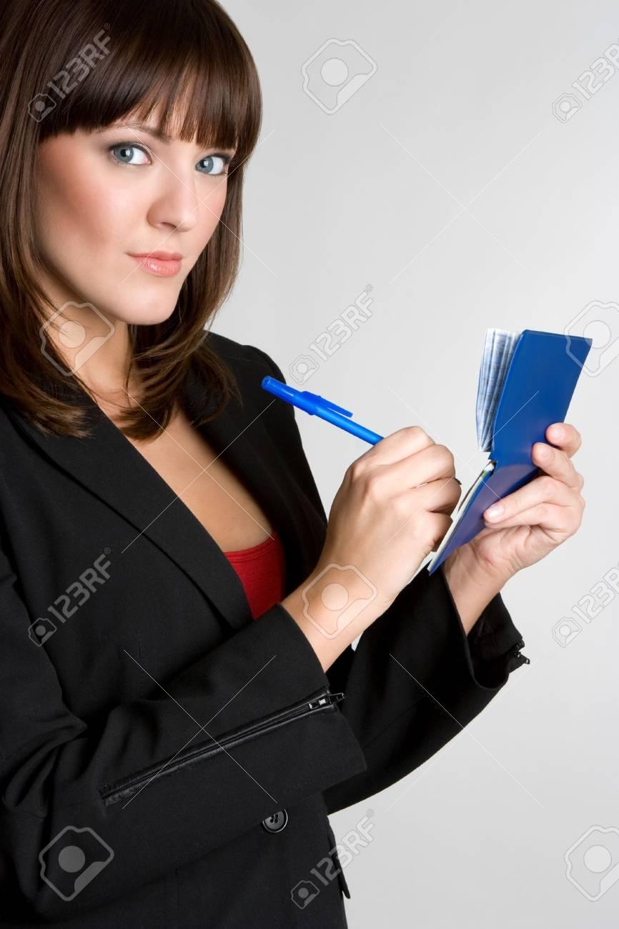 Woman Writing Checks Stock Photo - 4530820