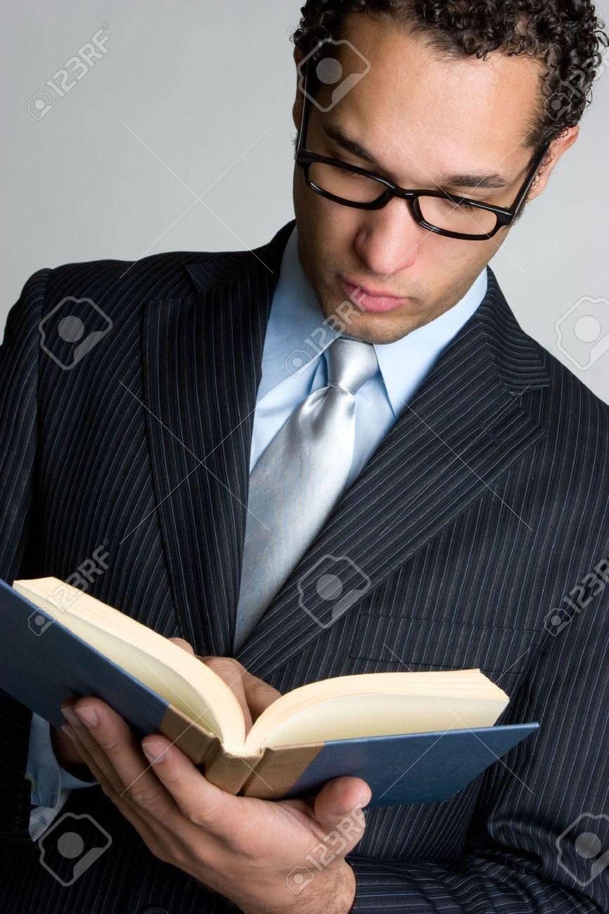 Businessman Reading Book Stock Photo - 4573385