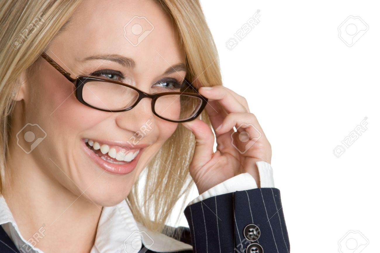 Blond Eyeglasses Woman Stock Photo - 4598664