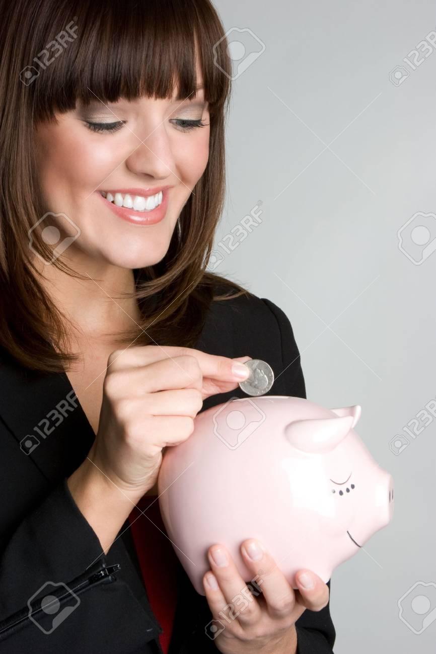 Woman Saving Money Stock Photo - 4614283