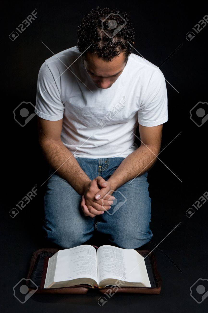 Man Reading Bible Stock Photo - 4679625